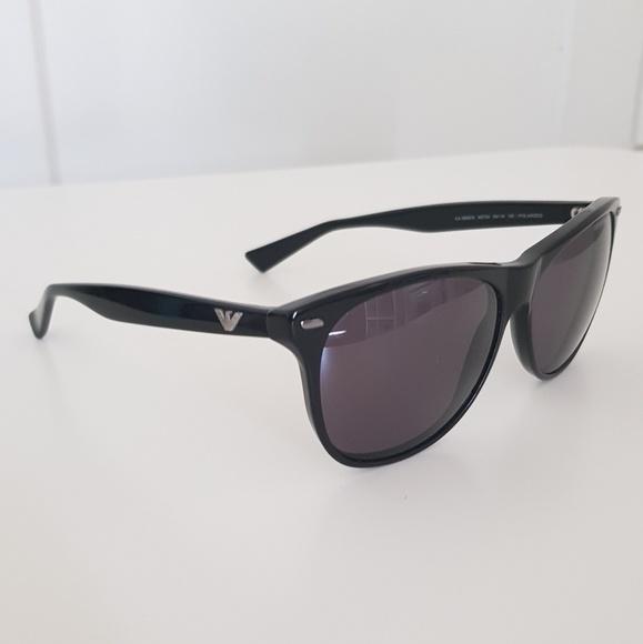 97439a07 Emporio Armani Polarized Wayfarer Sunglasses